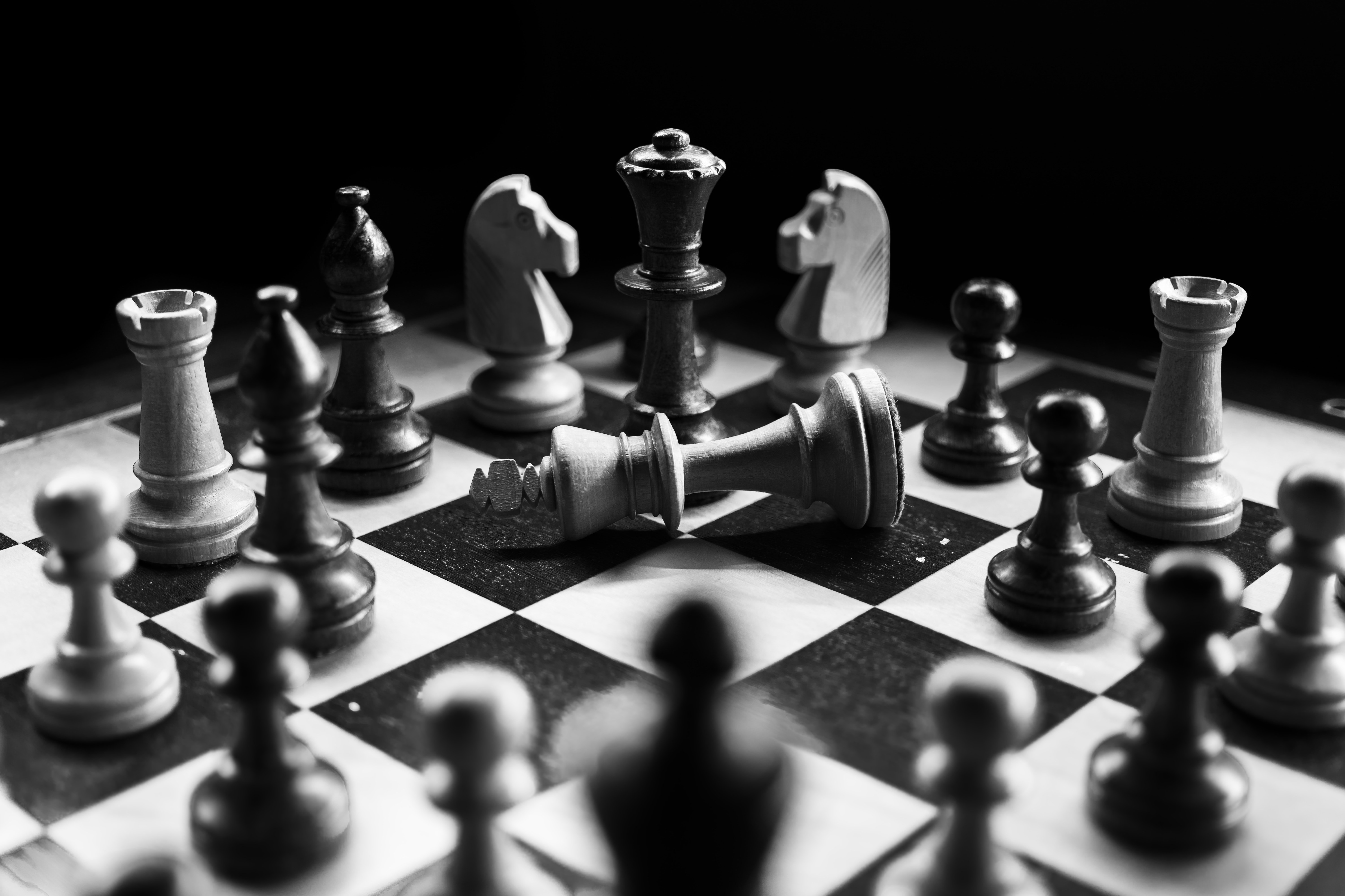 grayscale-photography-of-chessboard-game-957312